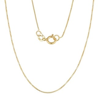 "Fremada 10k Yellow Gold 0.6-mm Box Chain (16""-24"")"