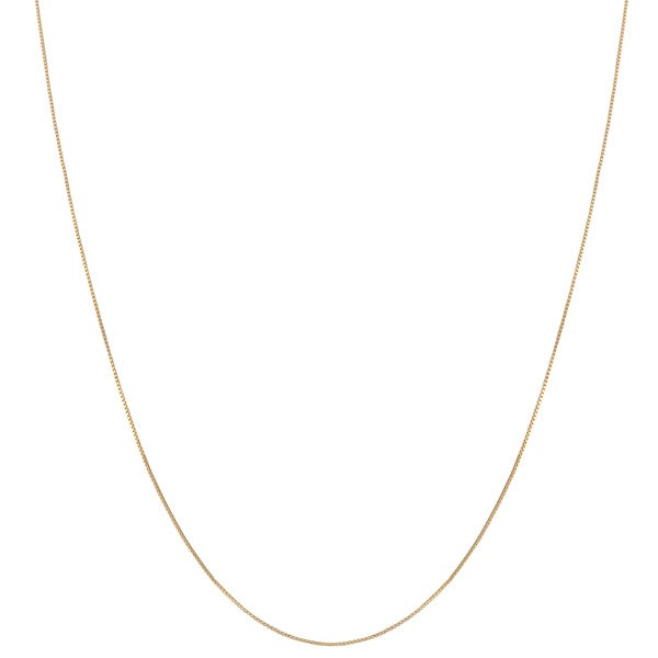 Fremada 10k Yellow Gold 24-inch Box Chain