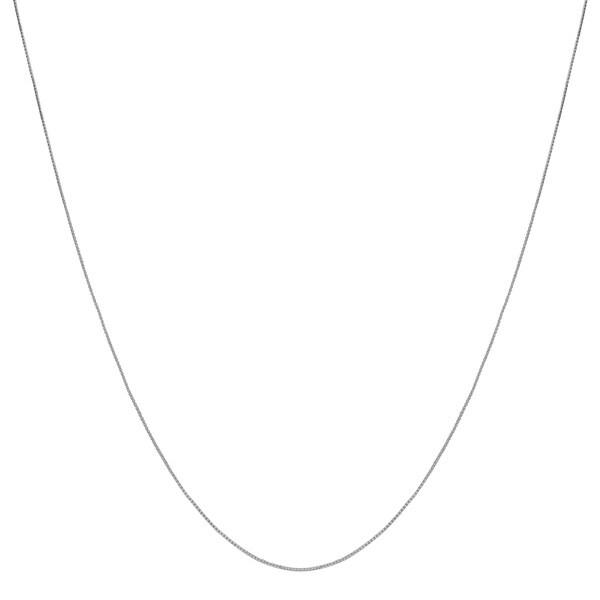 """Fremada 10k White Gold 0.6-mm Box Chain (16""""-24"""")"""