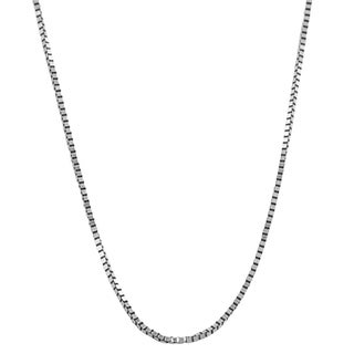 Fremada 10k White Gold 0.6-mm Box Chain (16