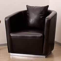 Tovano Dark Brown Swivel Chair