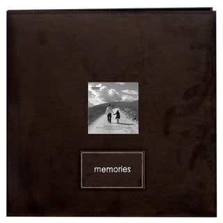 Pioneer Embroidered Patch Faux Suede Frame Post Bound Album