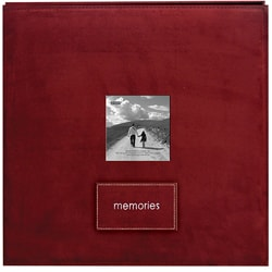 Memories Raspberry Faux Suede 12x12 Album with 40 Bonus Pages
