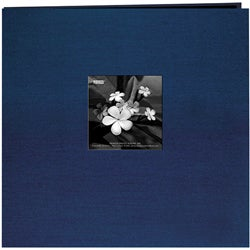 Pioneer Lagoon Blue Silk Fabric Frame Cover 12x12 Memorybook with 40 Bonus Pages