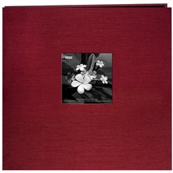 Silk Fabric Frame Cranberry 12x12 Album with 40 Bonus Pages