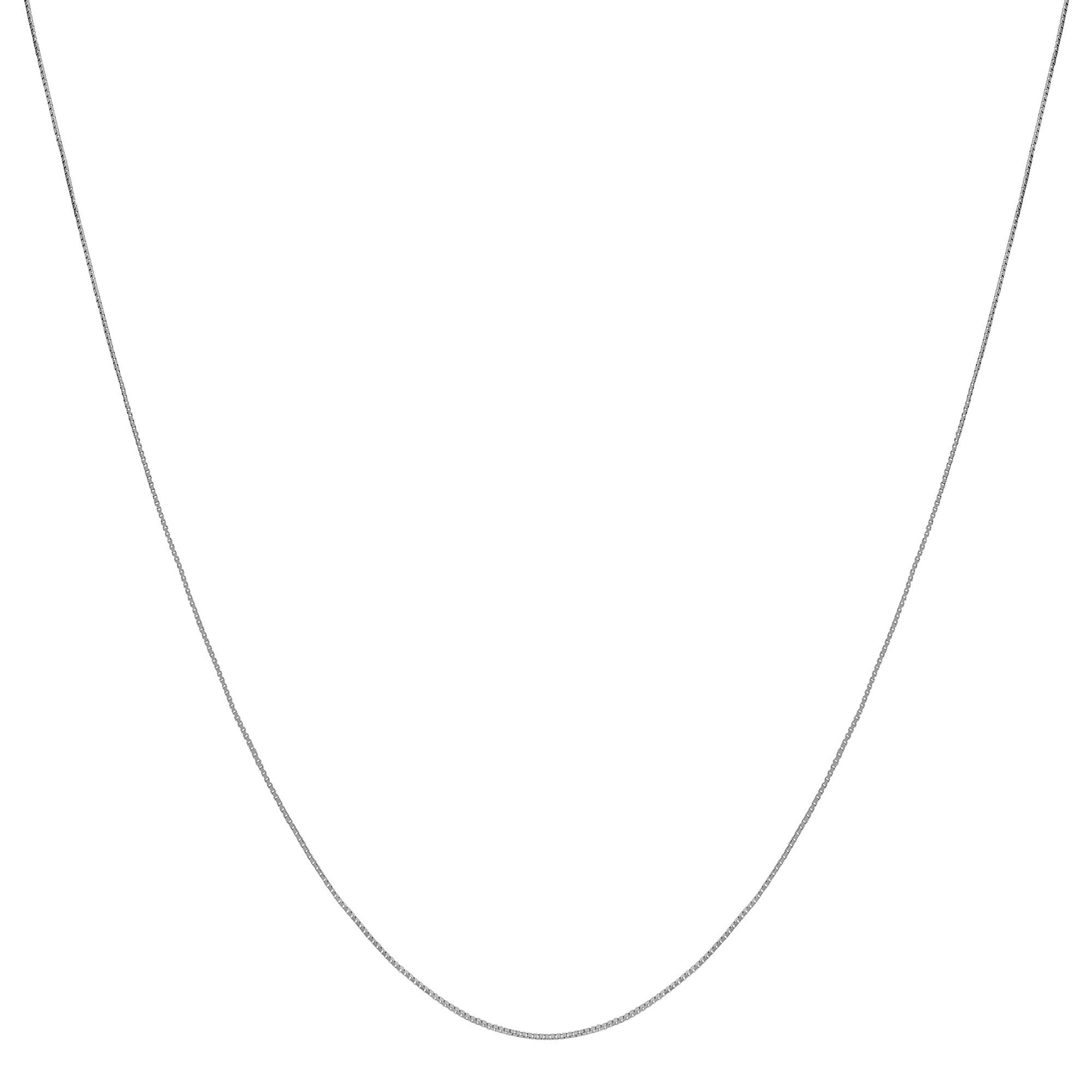 Fremada 10k White Gold 20-inch Box Chain