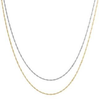 Fremada 10k White Gold 18-inch Singapore Chain
