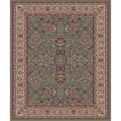 Traditional Green Nagris Rug (2'7 x 4'1 Oval)