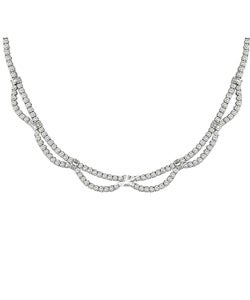 Miadora 18k White Gold 16 1/5ct TDW Diamond Necklace (F-I, VS-SI)