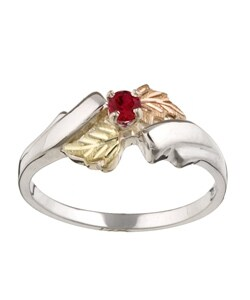 Black Hills 14-Karat Gold on Silver Created Ruby Ring