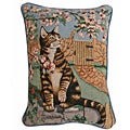Cat and Bee Tapestry Pillows (Set of 2)