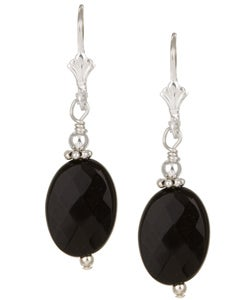 Charming Life Sterling Silver Black Onyx Drop Earrings
