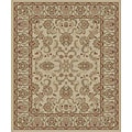 Traditional Ivory Ushak Rug (2'7 x 4'1 Oval)