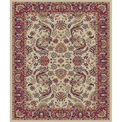 Traditional Ivory Sultanabad Rug (2'7 x 4'1 Oval)