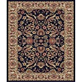 Traditional Black Sultanabad Rug (2'7 x 4'1 Oval)
