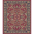 Traditional Red Sultanabad Rug (2'7 x 4'1 Oval)