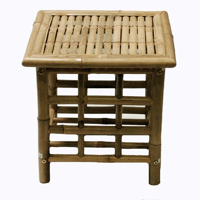 Handcrafted Bamboo End Table (Vietnam)