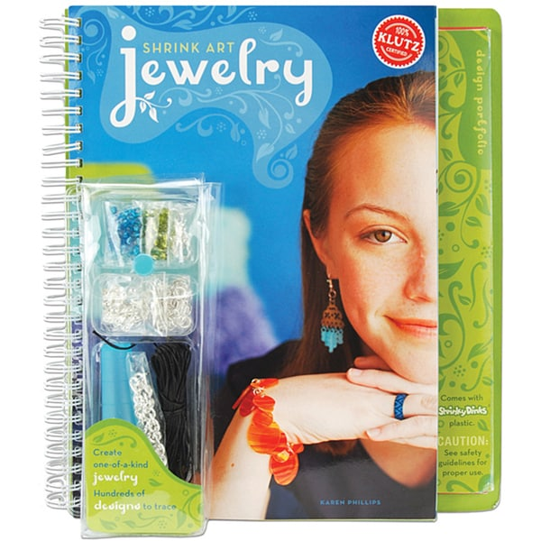 Klutz Shrink Art Jewelry 225-design Craft Kit with Instructional Book