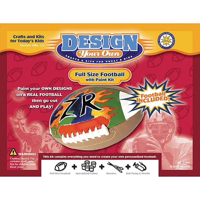 Design Your Own Football Paint Kit - 11372165 - Overstock.com Shopping ...