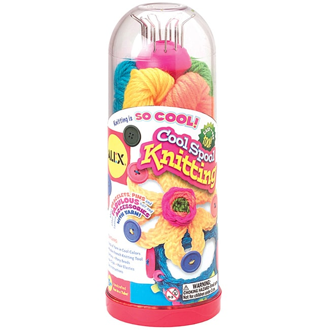 Cool Spool Multicolored Knitting Kit by Alex Toys for Ages Five and Up