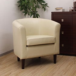 Tovano Leather Arm Chair Creme