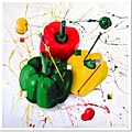 Roderick Stevens 'Peppers of Color' Framed Canvas Art