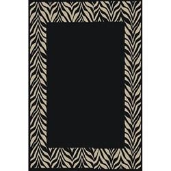 Black Zebra Transitional Rug (2'7 x 4'1)
