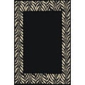Black Zebra Transitional Rug (2'7 x 4'1)