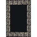 Black Zebra Transitional Rug (3'11 x 5'3)