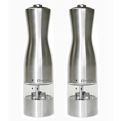 Electric Stainless Steel Salt and Pepper Mills (Pack of 2)