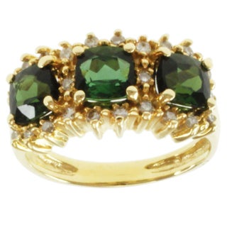 Michael Valitutti 18k Gold Tourmaline and 1/4ct TDW Diamond Ring