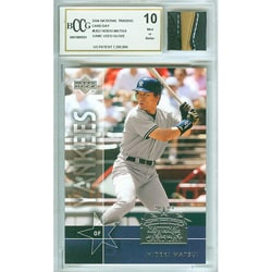 Hideki Matsui Trading Card and Glove Set