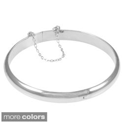 Sterling Essentials Silver 7-inch High Polish Bangle Bracelet (7mm)