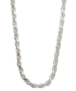 Sterling Essentials Sterling Silver 22-inch Diamond-Cut Rope Chain (2.5mm)