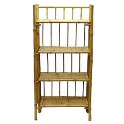 Bamboo 4-tier Folding Shelf (Vietnam)