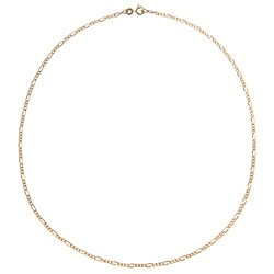Sterling Essentials 14K Gold over Silver 18-inch Figaro Chain