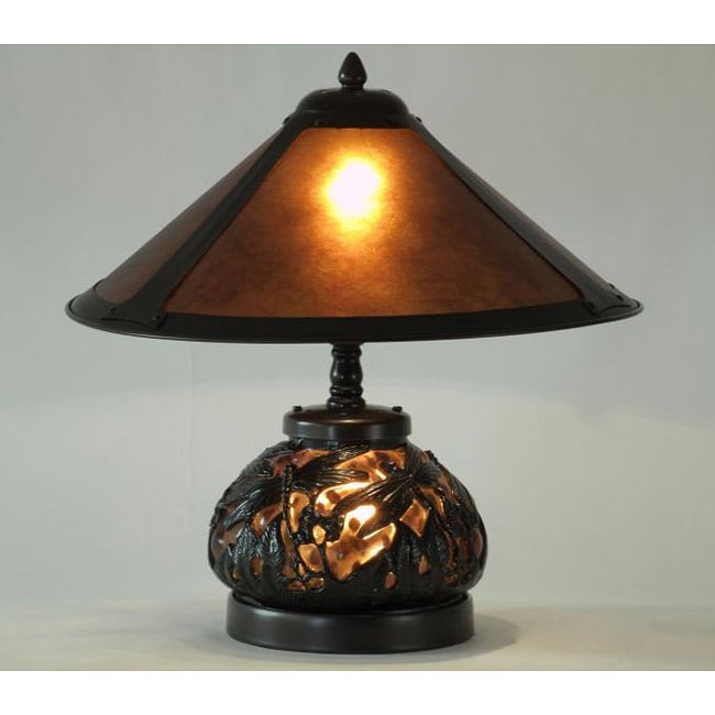 Mica Dragonfly Table Lamp with Lighted Base
