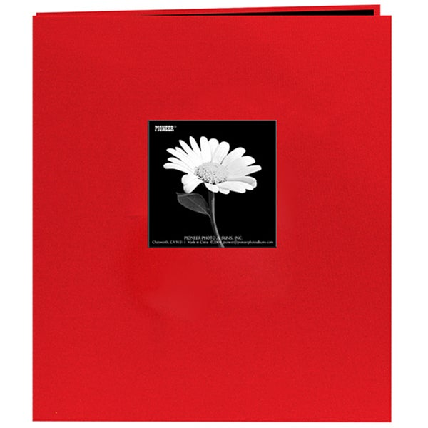 Fabric Frame Apple Red 8.5x11 Album with 40 Bonus Pages