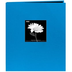 Fabric Frame 20-page 8.5x11 Blue Memory Album with 40 Bonus Pages
