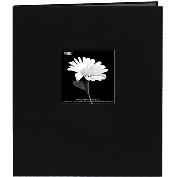 Pioneer Black Fabric Frame Cover 8.5x11 Memorybook with 40 Bonus Pages