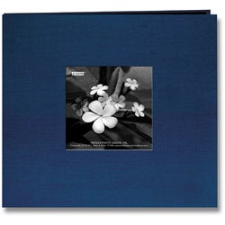 Pioneer Lagoon Blue Silk Fabric Frame Cover 8x8 Memorybook with 40 Bonus Pages