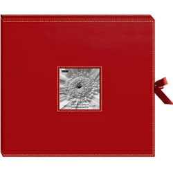 3-ring 40 Page 12x12 Red Memory Book Box