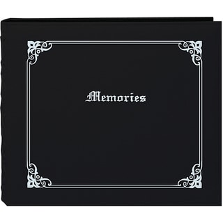Pioneer 'Memories' 12x12 Black Memory Book Binder with 40 Bonus Pages