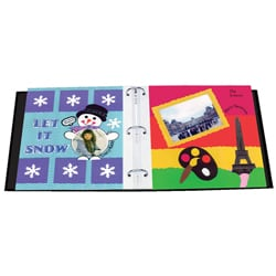 Black 12x12 Memory Book Binder with 40 Bonus Pages