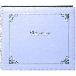 'Memories' 12x12 White Memory Book Binder with 40 Bonus Pages