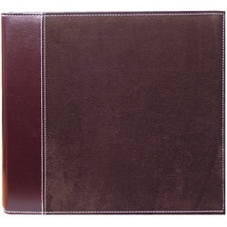 Brown Faux Suede 12x12 Memory Book Binder with 40 Bonus Pages