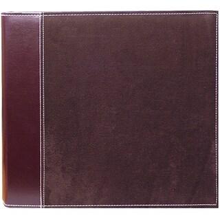 Pioneer Brown Faux Suede 12x12 Memory Book Binder with 40 Bonus Pages