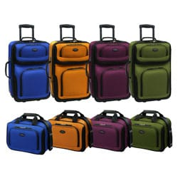 U.S. Traveler RIO 2-piece Expandable Carry-on Luggage Set