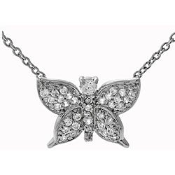 Tressa Sterling Silver Cubic Zirconia Butterfly Necklace