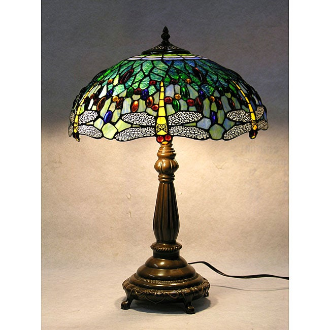 tiffany style blue dragonfly table lamp. Black Bedroom Furniture Sets. Home Design Ideas